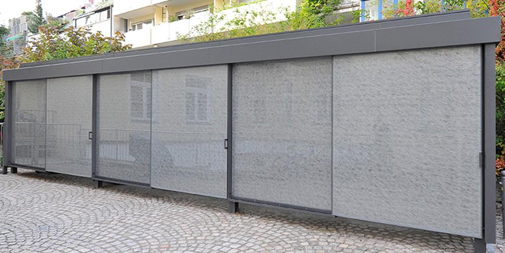 Fahrrad- und Müllport Haimhauserstraße