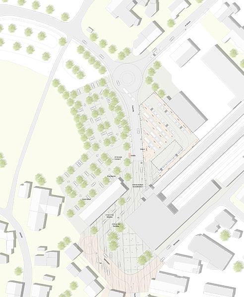 Realisierungswettbewerb Übersichtsplan Bahnhofsumfeldes Markt Oberstdorf
