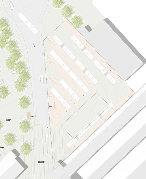 Realisierungswettbewerb Bahnhofsumfeld Markt Oberstdorf, Detailausschnitt