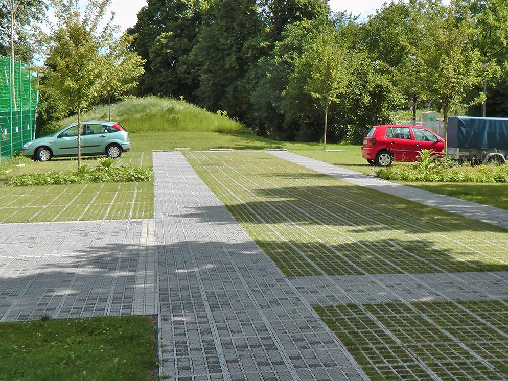 Albertinum Parkplatzanlage, Pflastersteine