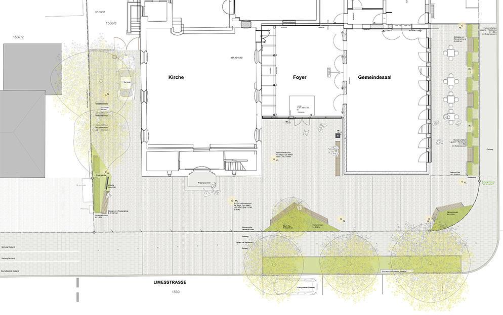 Vorentwurf Vorplatz Adventskirche